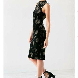 Zodiac Black Velvet Dress